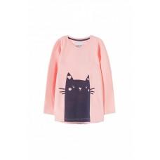 Толстовка розовая для девочки Кошка