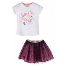 Комплект для девочки (футболка и юбка)