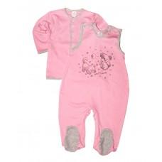 Комплект оджеды для новорожденных (кофточка и ползунки)