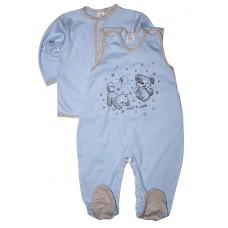 Комплект одежды для новорожденных (кофточка и ползунки)